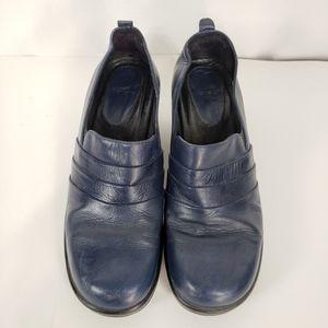 Dansko Blue Leather Clogs
